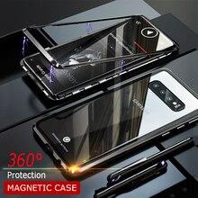 Роскошный металлический корпус Магнитный чехол для телефона для samsung Galaxy S10 рlus Lite противоударный чехол для samsung S10 Plus e чехол на заднюю панель