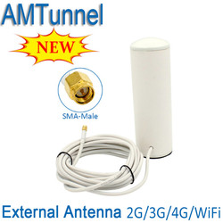 3G 4G antenna SMA 2.4G antenna 3G wifi antenna with 5m or 10m cable for 4G modem signal booster wifi router  Indoor or Outdoor