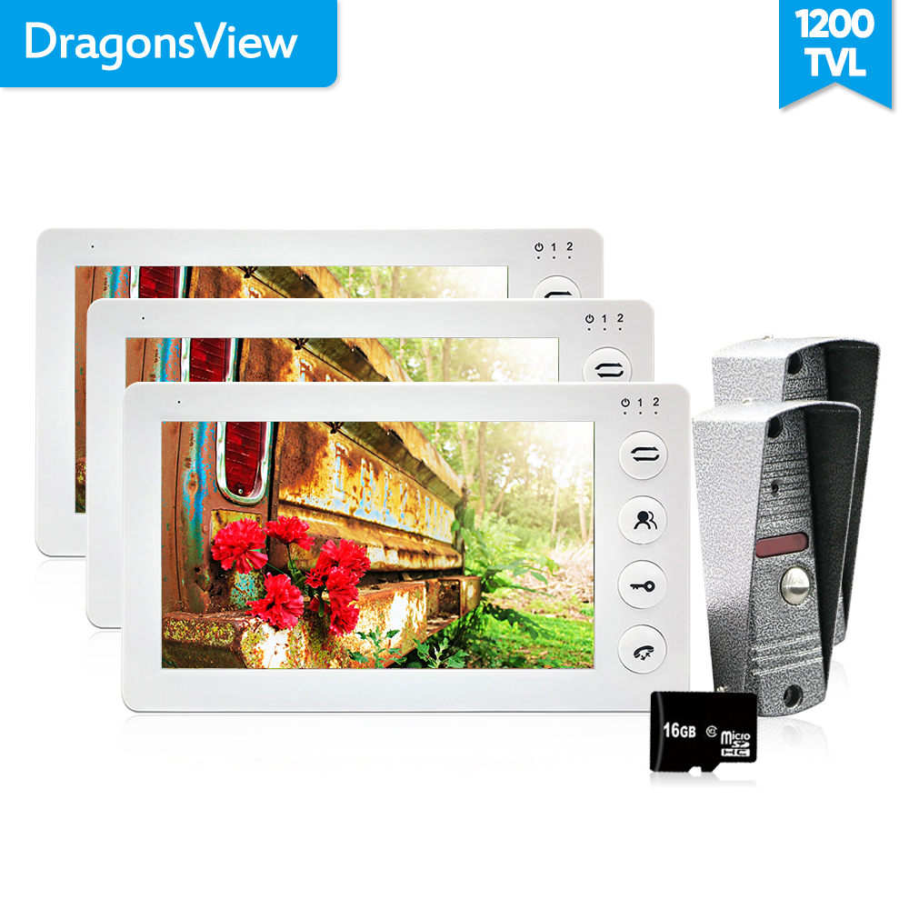Dragonsvie 7 Inch Video Citofono Per La Casa privata Video Telefono Del Portello di Colore Bianco 1200TVL Motion Detection di Registrazione della Carta di DEVIAZIONE STANDARD 16 GBDragonsvie 7 Inch Video Citofono Per La Casa privata Video Telefono Del Portello di Colore Bianco 1200TVL Motion Detection di Registrazione della Carta di DEVIAZIONE STANDARD 16 GB