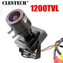 6.18 Mini Zoom Camera 2.8mm-12mm 1200TVL HD Manual focusing Djustable Lens Metal security surveillance vidicon Micro video