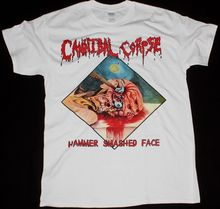 CANNIBAL CORPSE HAMMER SMASHED FACE DEATH METAL CHRIS BARNES NEW WHITE T-SHIRT Men Short Sleeve Tee 2017 New Arrival T Shirt