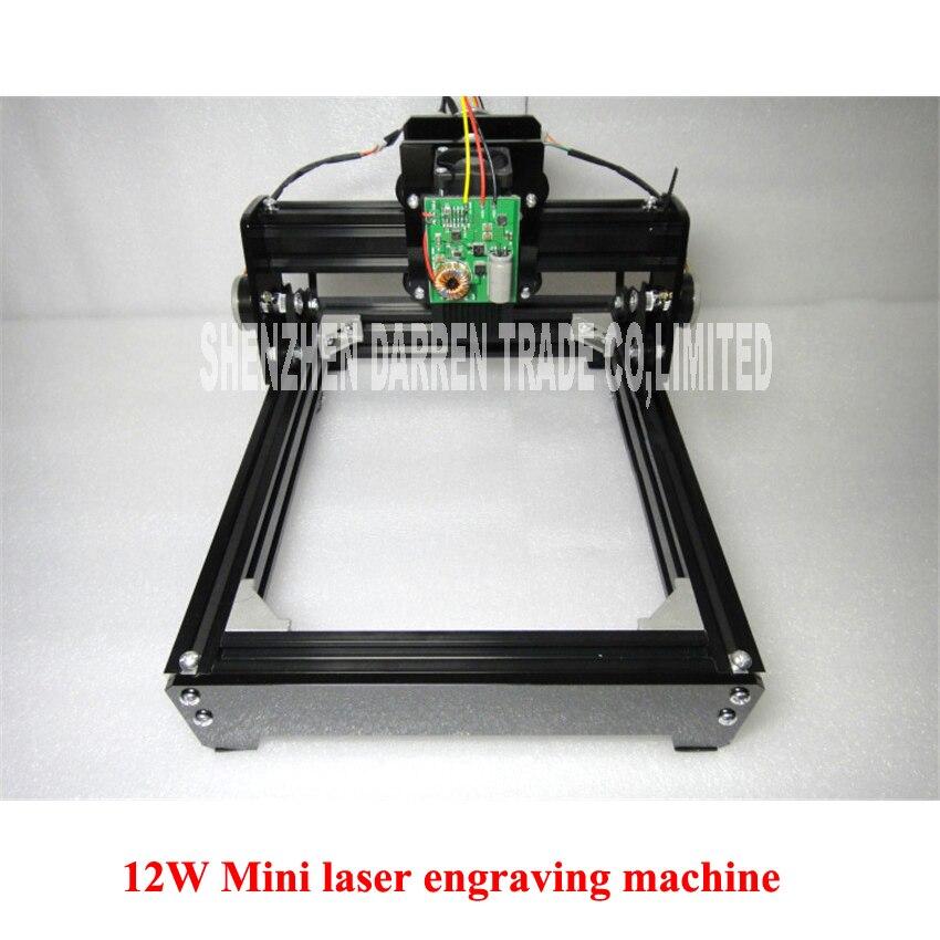 DIY USB 12W Mini laser engraving machine laser marking machine miniature cutting plotter engraving iron,ceramics,stone,wood,etc.