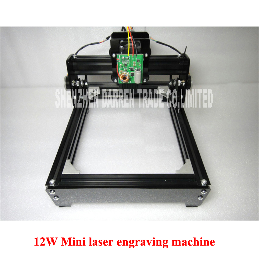 DIY USB 12W Mini laser engraving machine laser marking machine miniature cutting plotter engraving iron,ceramics,stone,wood,etc.