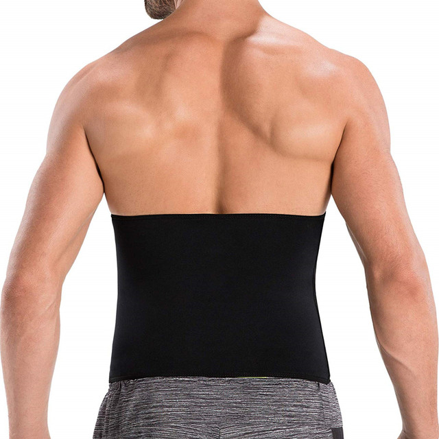 Men Slimming T-Shirt Waist Trainer Belt Body Shapers Pants Long Sleeves Fat Burning Shaperwear Sweat Sauna Modeling Strap Corset 3