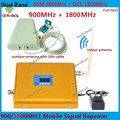 1 conjunto Repetidor de Banda Dupla 900 1800 Telefone Celular Amplificador de Impulsionador Display LCD GSM DCS Reforço De Sinal Duplo com LDPA chicote antena