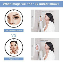 vusum 360 degree flexible lighting mirror 10 times magnifying glass vanity mirror wall lamp with LED lamp bedroom wall lamp