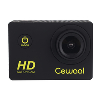 Cewaal Full HD 1080P Sports Camera Waterproof Action Cam 2 Inch Screen Photo Swimming Video Recorder