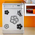 High quality household refrigerator stickers Flowers and butterflies wall stickers 30 cm x30 cm