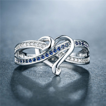 Love Heart Cubic Zirconia Ring Rings 2ced06a52b7c24e002d45d: 10|6|7|8|9