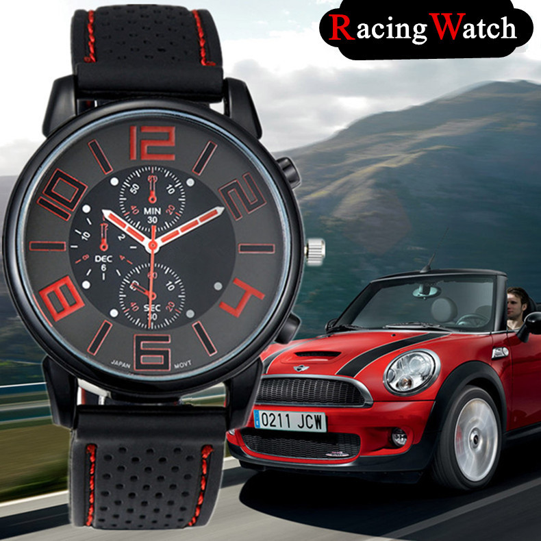 Men sports watches quartz watch F1 racing hot sale fashion watch male sports stylish silicone watch casual round dial relogios family matching outfits kids girls and mom clothes floral print dress mom girls pleated party skirts mother and daughter dresses