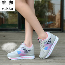 Height Increase Fashion Women Wedges Shoes Pumps Girls' Casual Lace-up Thick Soles Sexy High Heels Platform Shoes Zapatos Mujer