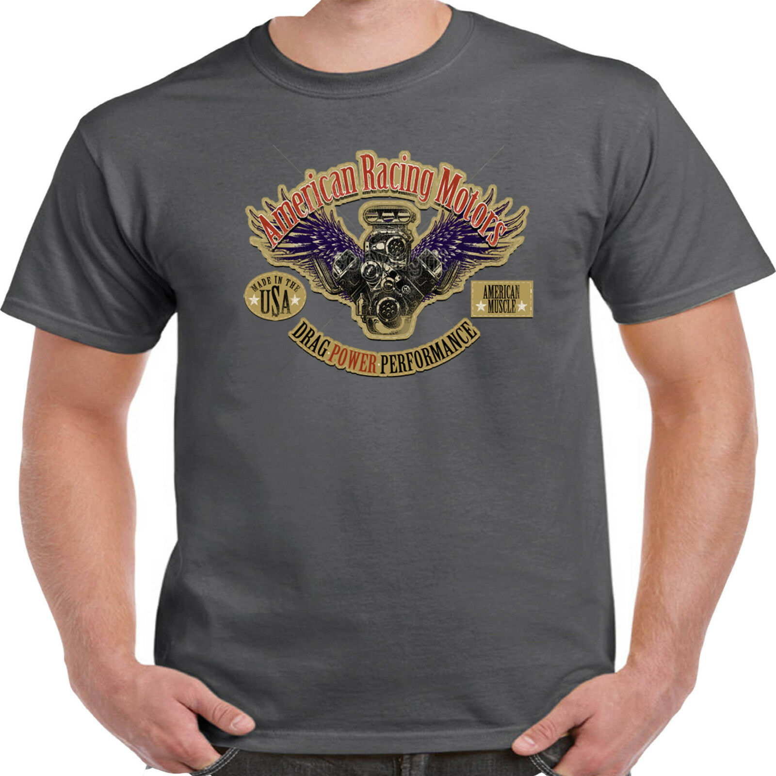 Homme Hotrod 58 Hot Rat Rod T Shirt American Rockabilly Vintage Classic V8 Voiture 2