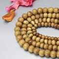 Venta al por mayor del Hueso de Yak Tibetano Oración Malas Cuentas 6/8/10mm Tíbet Antiguo Ox Hueso Café Marrón Cuentas 100 perlas de gran cantidad