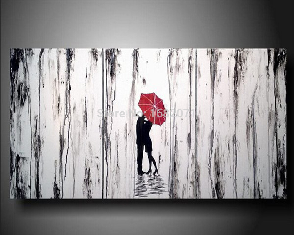 Beautiful Abstract Oil Painting Lover Hug On Rainy Hand Painted Lover Pictures On ...