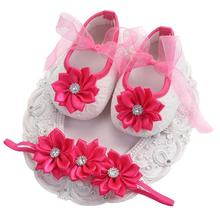 Butterfly-knot Infant Shoes With Headband