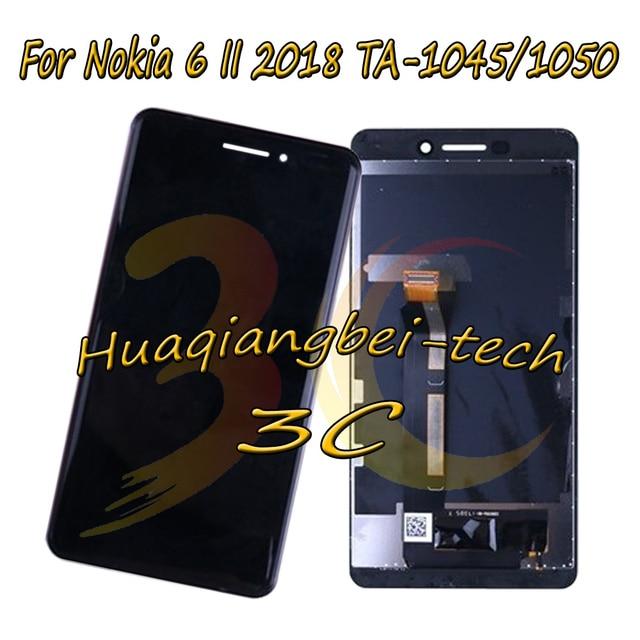 5.5 ''עבור Nokia 6 II 2018 TA-1045 TA-1050 מלא LCD תצוגה + מסך מגע Digitizer עצרת עבור Nokia N6 (2018) 100% נבדק