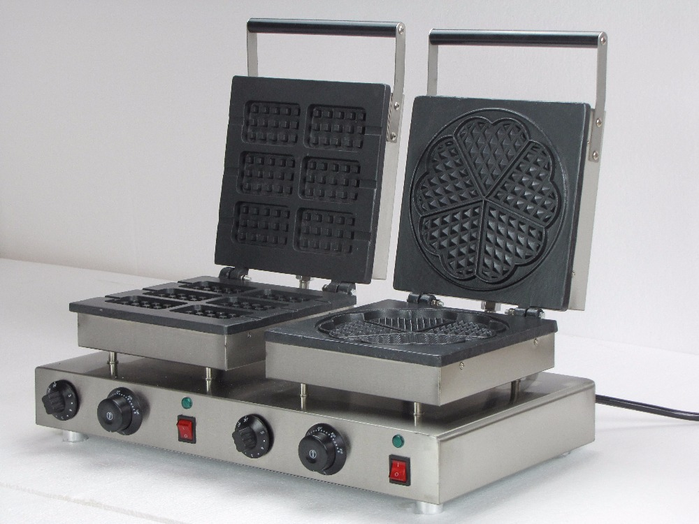 commercial use double waffle baker electric waffle irons