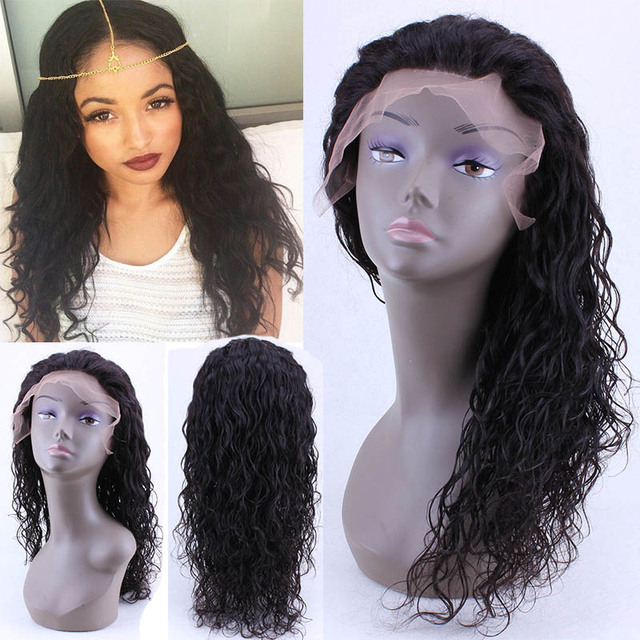Natural Wave Best Glueless Full Lace Human Hair Wigs For Black Women Wet And Wavy Virgin Brazilian Lace Front Human Hair Wigs
