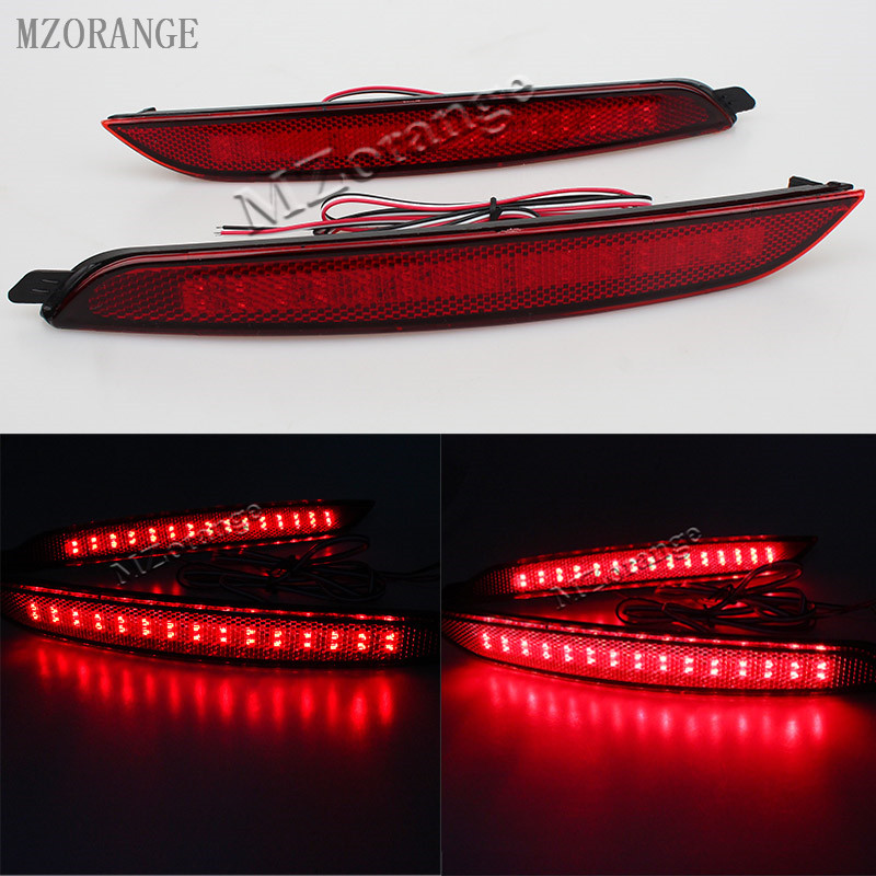 MZORANGE 2 Pcs Daytime Running Lights 35 Led ABS Stop Brake Light Car Rear fog lamps For Hyundai elantra 2012 car light source free shipping led tail lamps assy bm style light bar rear lamps tail lights fit for hyundai elantra 2012 2015