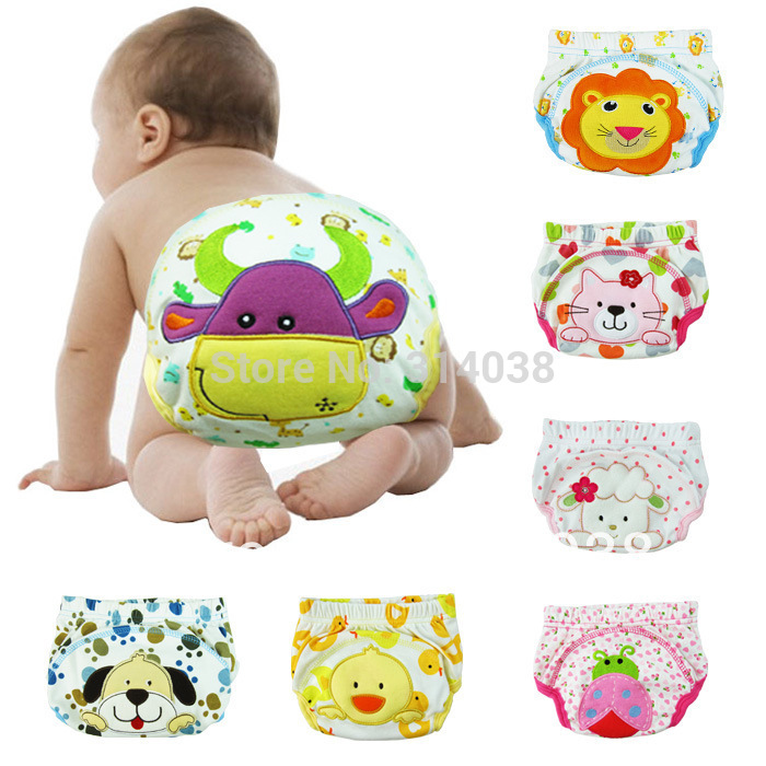 Big Size Arrived Now  Free Shipping   Big Size  6-54M    7 Design  Water Proof  Embroidered Baby Training Pants