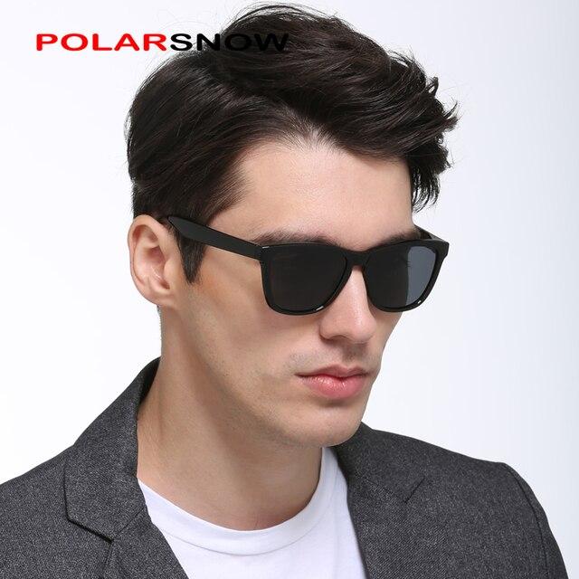 POLARSNOW polarizadas espejo gafas de sol gafas para hombres de moda de las  mujeres Vintage gafas 614dd1b7bea4
