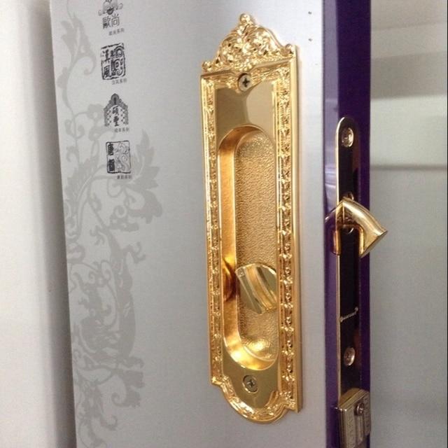 Export 24K gold plate shift door sliding doors wood room kitchen ...
