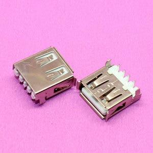 YuXi Brand New USB 2.0 jack USB connector female 4P 90degree Sink DIP