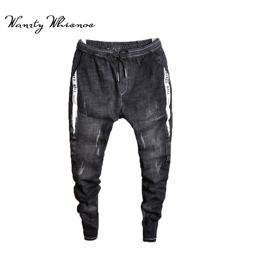 2019 Men   Jeans   Pants Black Good Biker   Jeans   Men Autumn Winter Mens   Jeans   Casual Denim Trousers Male New Design Korean Style