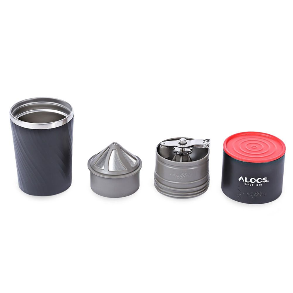 DSGS Alocs CW-K16 4 en 1 taza de café de viaje de Camping máquina de molinillo de granos de café
