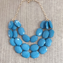 Free Shipping New Three Layers Geometric Acrylic Beaded Statement Collar Necklace free shipping wholesale false collar 2 layers lace collar necktie tie necklace jewelry