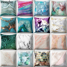 Hongbo 1 Pcs Colorful Marble Printed Pillow Case Cushion Cover Bed Throw Pillowcase For Car Sofa Home Decor