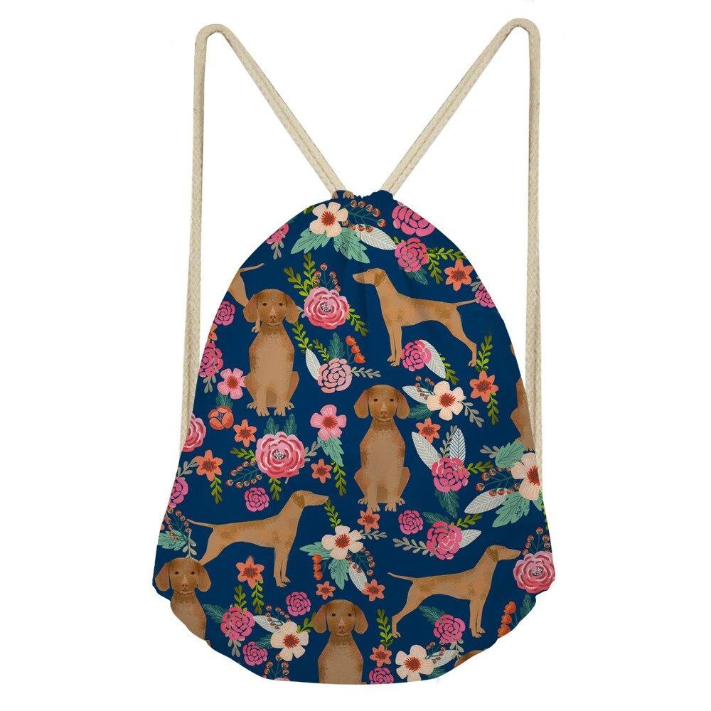 ThiKin Unisex Vizsla Printing Drawstring Bags Women Lightweight Backpack Bags Shoes Travel Organizer Home Storage bag
