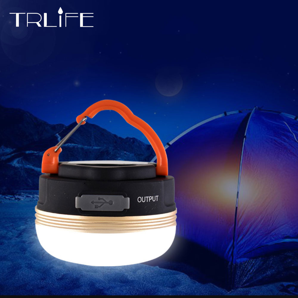 Super Bright LED Camping Outdoor Lamp Tent Lantern Rechargeable 5 Light Model
