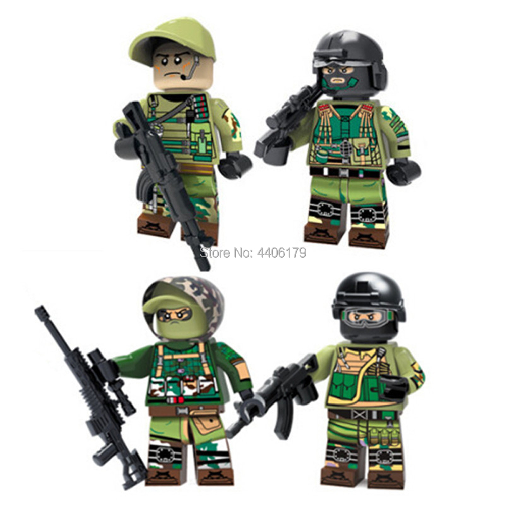 compatible LegoINGlys military World War II Russia Field army Building Blocks mini weapon figures brick toys for children gift guerre moderne lego