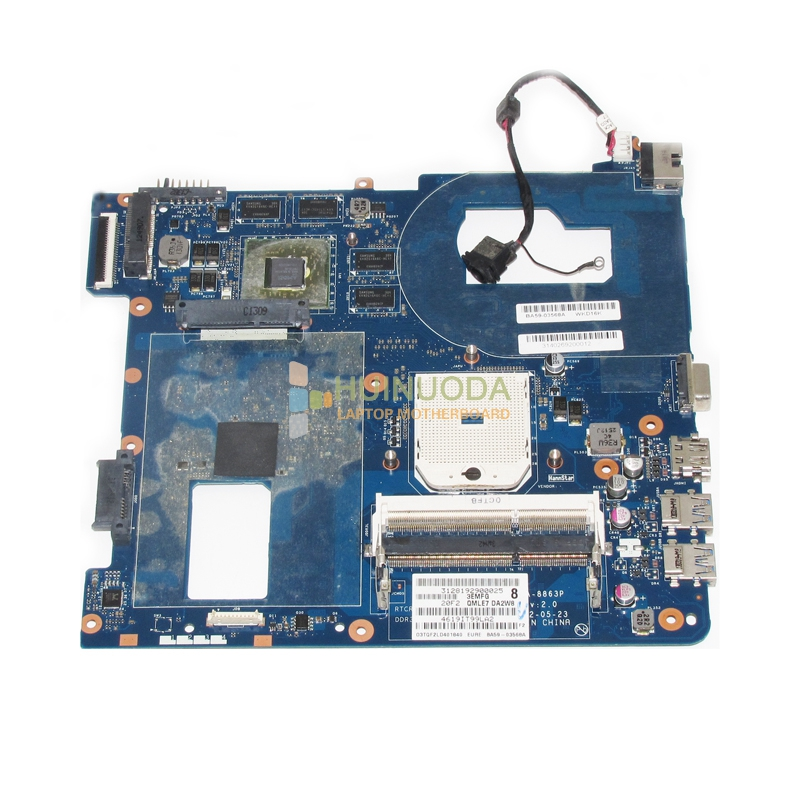 NOKOTION laptop motherboard For Samsung NP355C4C NP355V5C QMLE4 LA-8863P BA59-03567A HD7600 1GB Socket FS1 DDR3 fit for samsung np350 np350v5c 350v5x laptop motherboard qcla4 la 8861p ba59 03541a ba59 03397a ddr3 hd 7600m gpu 100