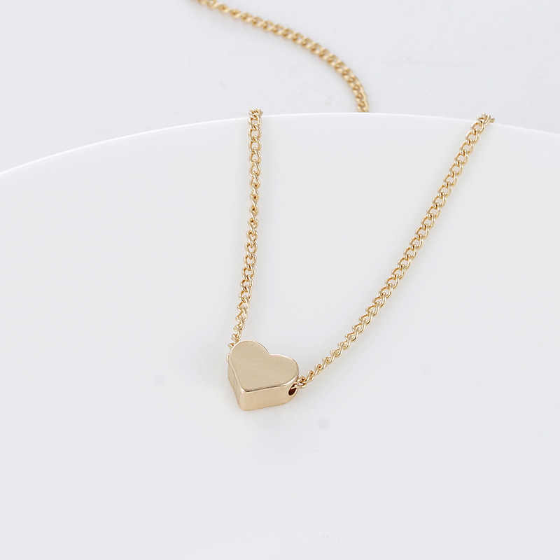 Charmsmic แฟชั่นผู้หญิง Heart Charm สร้อยคอสร้อยคอ Link Chain Gold Silver เรียบง่ายสร้อยคอจี้หญิงยุโรปเครื่องประดับ