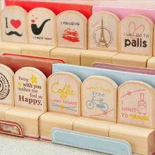 DIY Scrapbooking Envelope Seal 3Pcs Korean Style Diary Scrapbook Stationery Wooden Rubber Stamp Seal Stamps Cartoon gsfy 40pcs set happy life diary girl cute cartoon mounted rubber stamp wooden box