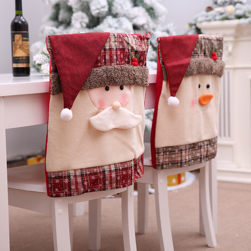 Kitchen Table Embroidered Chair Covers Christmas Holiday