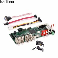 GADINAN H.264 Network Video Recorder DIY BOARD 8 Channel 1080N /16 Channel 1080P /4CH 5MP NVR/ AHD/CVI/TVI/CVBS HDMI DVR ONVIF
