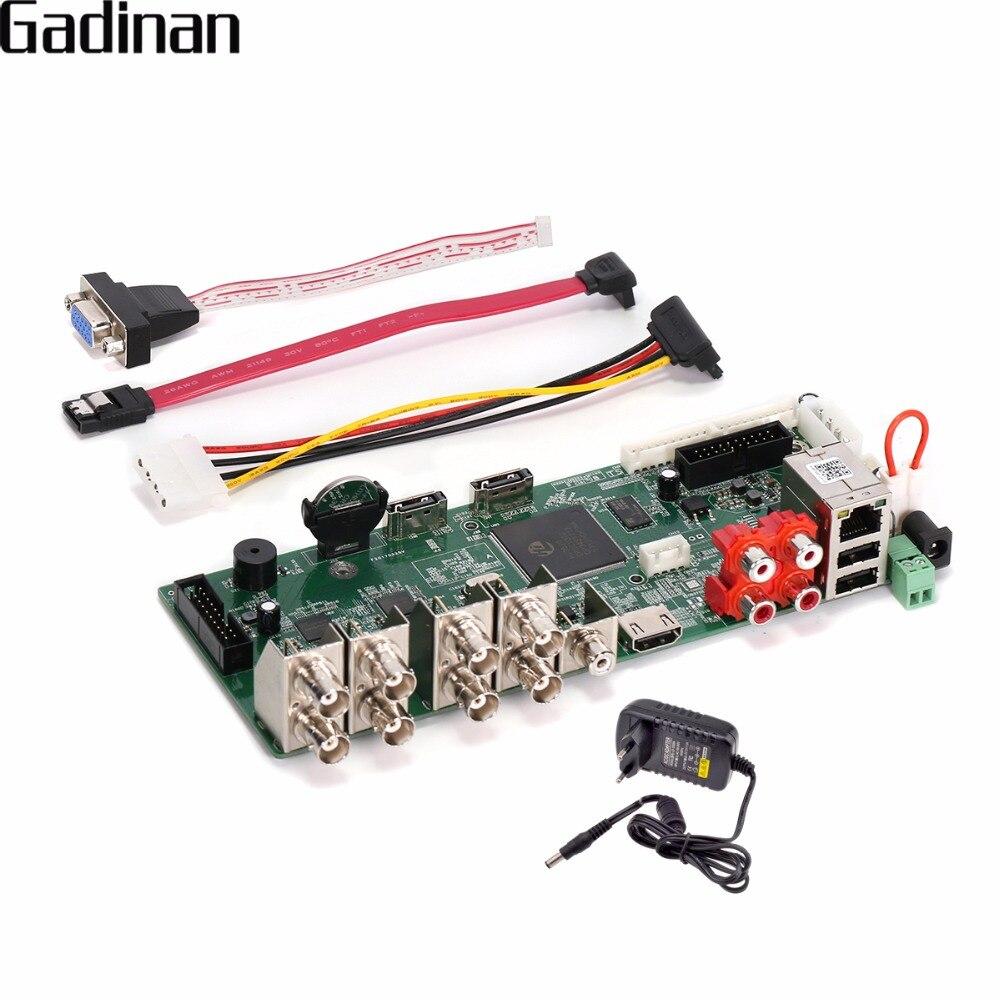GADINAN H.264 red Video Recorder tablero DIY 8 canal 1080N/16 canal 1080 p/4CH 5MP NVR/ AHD/CVI/TVI/CVBS HDMI DVR ONVIF