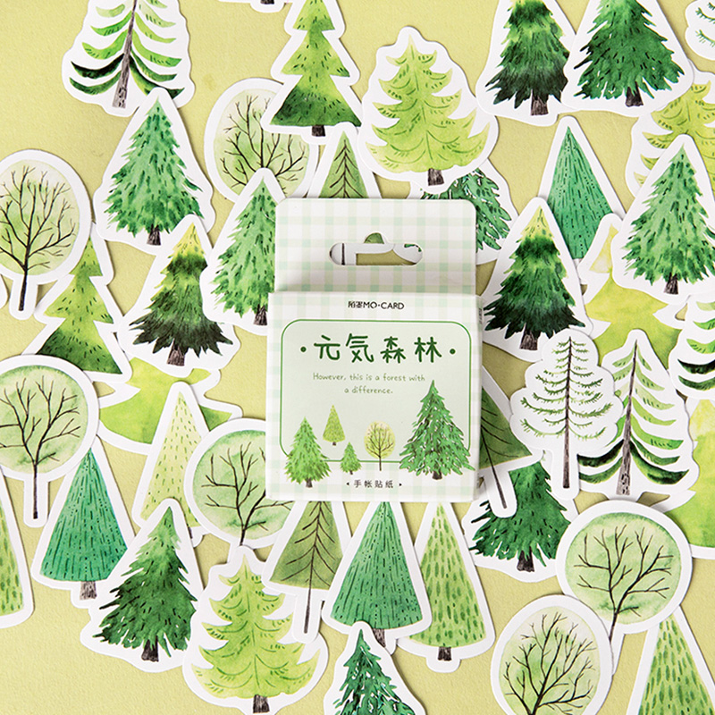45 Pcs/lot Green Forest Trees Plant Mini Paper Sticker DIY Decoration Sticker For Album Scrapbooking Label Sticker