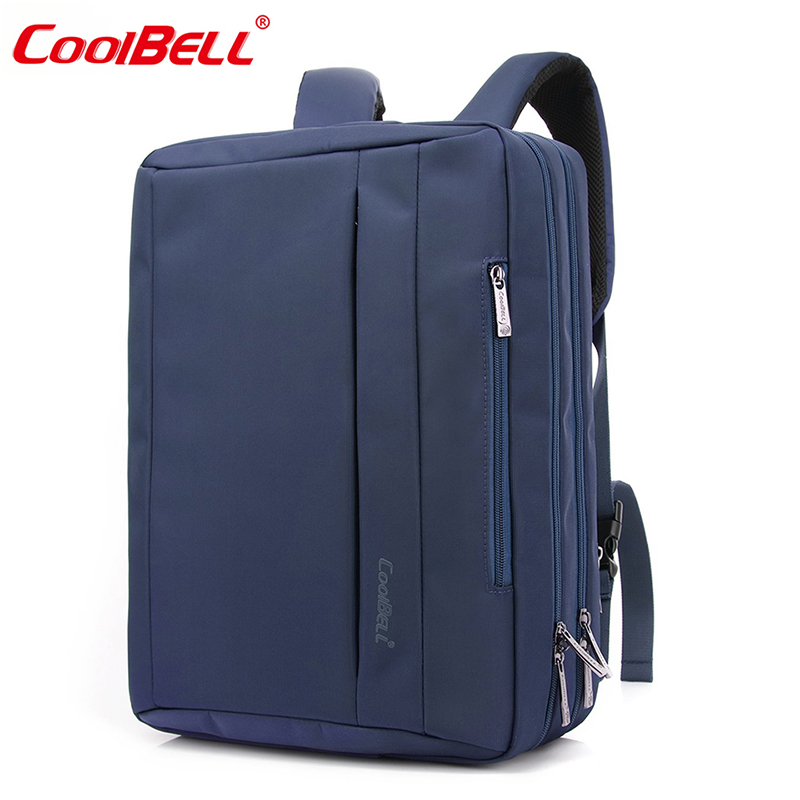 CoolBELL 15.6 Inch Convertible Laptop Backpack Messenger Shoulder Bag Backpack Oxford Cloth Multi-Functional Notebook Briefcase 13 inch multi functional 600d oxford canvas tool bag computer repair shoulder bag red