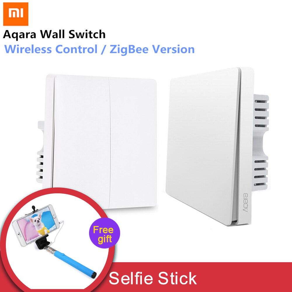 Xiaomi Aqara interruptor de pared de luz inteligente interruptores de Control ZigBee versión conexión inalámbrica APP Control remoto inteligente Kit de casa