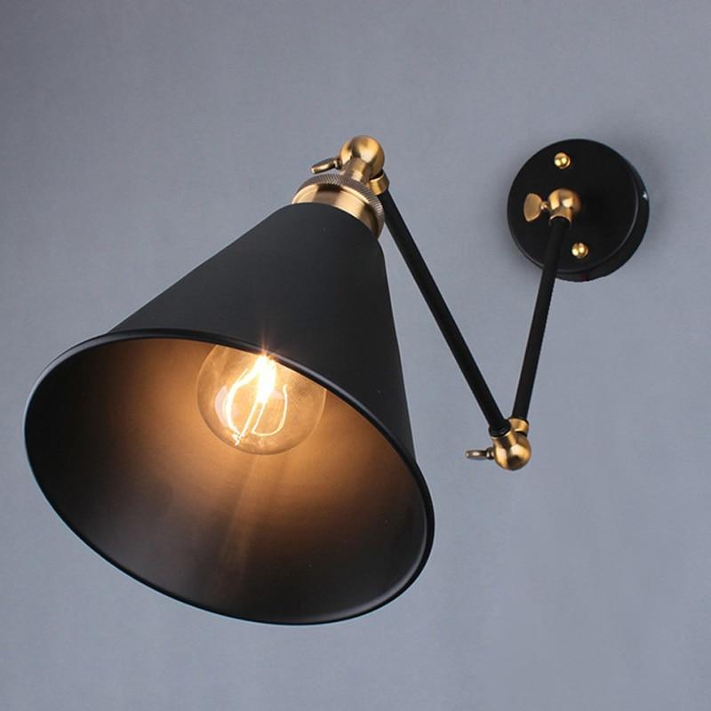 ФОТО Louis Poulsen scone light E27 plated Loft american  retro vintage iron wall lamp 110V-220V 40W Antique wall lamp industrial