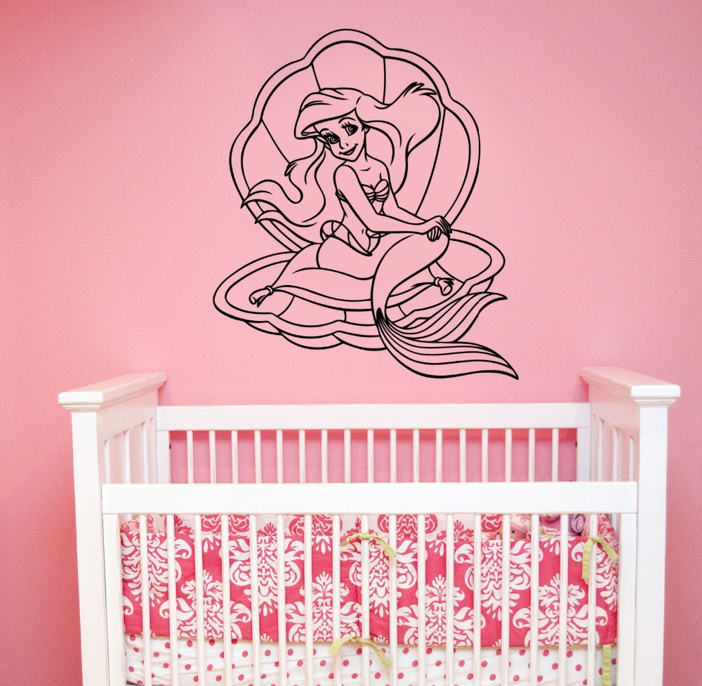 Online Get Cheap Mermaid Wall Decals Aliexpresscom Alibaba Group - Locations where sell wall decals