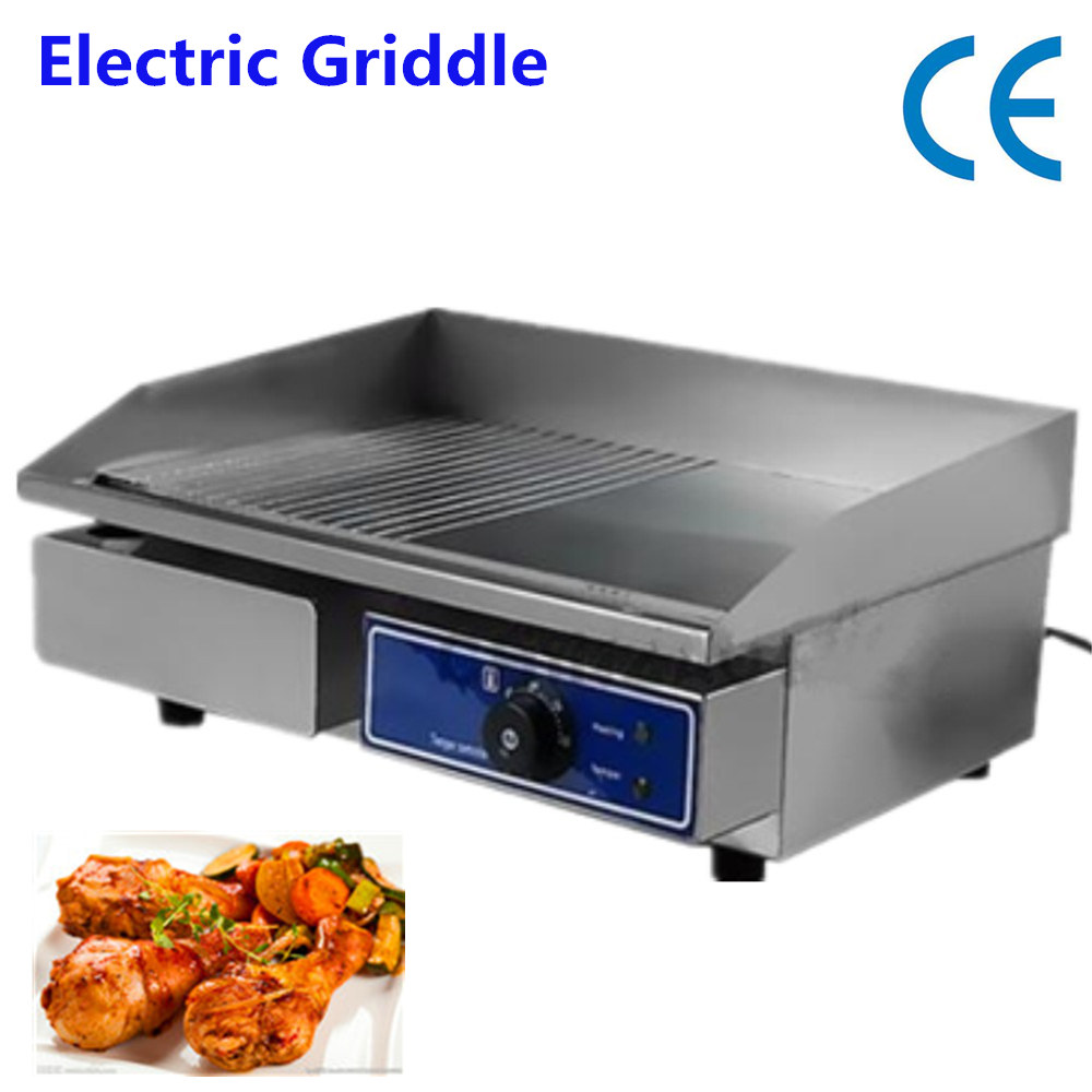 Fast ship From Germany !  cheap top mini Commercial Electric Griddle Electric Grill Stainless steel table cheap household barbecue meat pan grill electric griddle germany stock