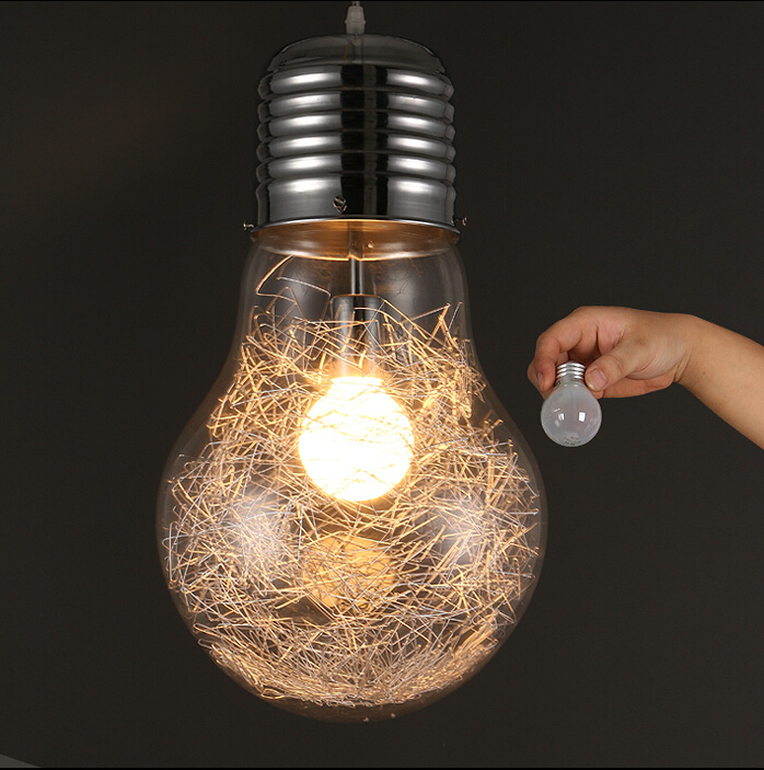 Modern Creative Large Bulb Pendant Lights Glass Bubble