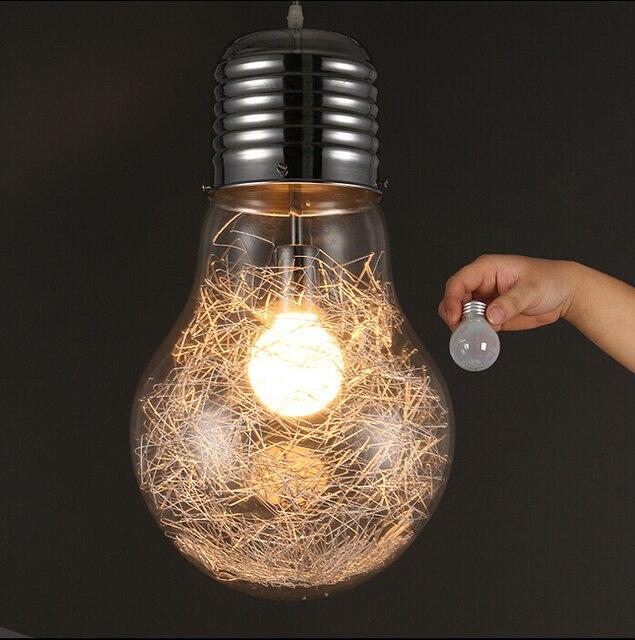 Novelty Lighting Fixtures : Modern Creative Large Bulb Pendant Lights Glass Bubble Drop Light Aisle Balcony Lamp Novelty ...