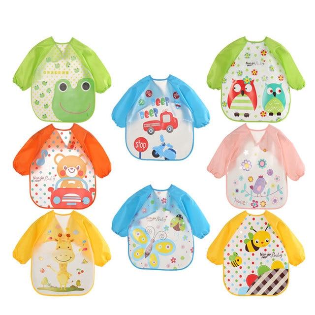 Cartoon Baby Bibs EVA Waterproof Newborn Translucent Bibs Feeding Baby Cloths Saliva Towel Print Apron Kids Girls Boys Bib Baby