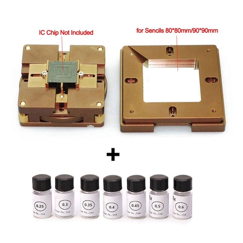 90mm Universal BGA Reballing Estação Lock Magnetismo 7*12.5 K BGA Bola de Solda para Retrabalho BGA Reballing Reparação ferramentas de soldagem Conjunto